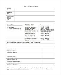 10 Sample Rental Verification Forms Sample Templates