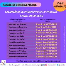Auxílio Emergencial: Confira o Calendário de Saque da 2ª Parcela | CAMTRA -  Casa da Mulher Trabalhadora