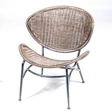 EBTHcom Mid Century Modern Rattan Wicker Chair