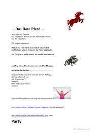 Das rote Pferd - Deutsch Daf Arbeitsblatter
