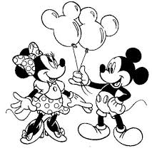 Small Picture Minnie Mouse Coloring Pages Birthday Archives With Free Minnie