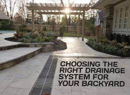 backyard drainage design choosing the