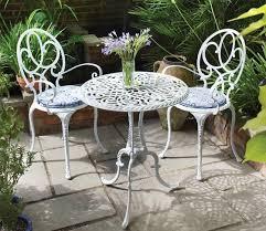 white metal patio furniture metal