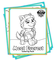Paw Patrol Everest Coloring Pages Dealicious Mom