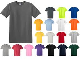 Gildan 5000 Color Chart 2018 Blank T Shirts Gildan G5000 Adult Unisex 5 3 Oz Hd Heavy Cotton 19 Colors 4974