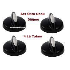 Siyah Set Üstü Ocak Düğme Takım , Elektrikli Ocak Düğmesi 4 Lü Fiyatları ve  Özellikleri