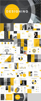Powerpoint Backgrounds Yellow Yellow Report Powerpoint Template
