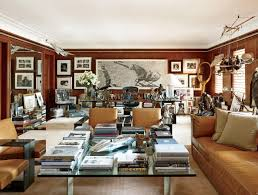ralph lauren home office accents. A Large Graphite Drawing By Woodrow Blagg Is Displayed Behind The Designer\u0027s Highbridge Glass-top Desk, Which Ralph Lauren Home. Home Office Accents