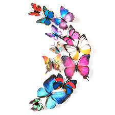 Butterfly Home Decor Accessories 100pcs 100d butterfly wall decor DIY home decoration accessories 100D 59