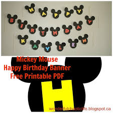 Mickey Mouse Party Printables Free Free Mickey Mouse Printables