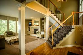 carpet on stairs. stair spindles. carpet - on stairs s