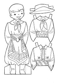 Bộ sưu tập tranh tô màu quần áo cho bé trai và bé gái tập tô màu trong 2021  | Búp bê giấy, Trang tô màu, Sách tô màu
