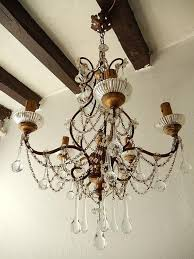 french baroque crystal prisms swags old chandelier for 3