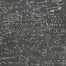 Chalkboard Black Equation Wallpaper