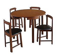 walnut dining table and chairs inspirational amazon mid century tobey walnut pact dining set 5 piece