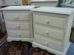 white painted bedside cabinets