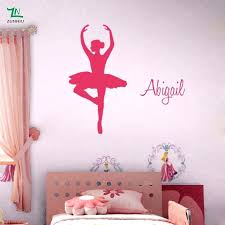 ballerina wall decals personalised custom name ballerina wall stickers ballet r girls decals murals home living ballerina wall decals