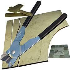 glass cutter cut shapes in ceramic tile