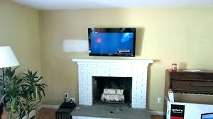 how to hide wires over brick fireplace in wall mount tv