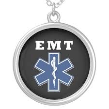 emt blue star of life silver plated