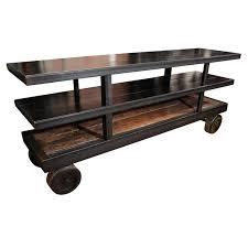 industrial furniture wheels. industrial metal credenza on factory wheels furniture t