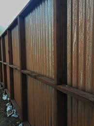Rusted corrugated metal fence Weathered Exterior Of 7 Cortin Rusting Corrugated Fence Pinterest Exterior Of 7 Cortin Rusting Corrugated Fence Metal Fences In