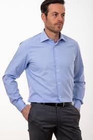 Light Blue Semi Dress Mens Belmonte Shirt Classic Sky Blue Semi Plain 100 Cotton Collar Italian Long Sleeve