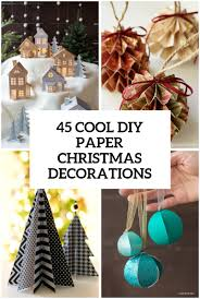 Diy Christmas Decorations 45 Wonderful Paper And Cardboard Diy Christmas Decorations