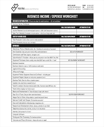 Income And Expense Template Income Expense Sheet Template Callatishigh Info