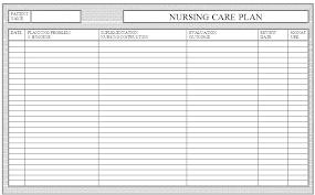 Blank Nursing Care Plan Template Amartyasen Co