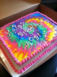 Tie Dye Birthday Cake Designs Tie Dye Sheet Cake Tie Dye Cakes Birthday Sheet Cakes