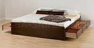 Prepac Bedroom Furniture Prepac King Platform Storage Bed With 6 Drawers In Espresso
