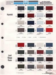40 Credible Range Rover Colour Chart