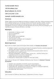 Resume Templates: Treasury Accountant