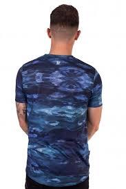 Camo T-Shirt - Dark Blue - 11 Degrees