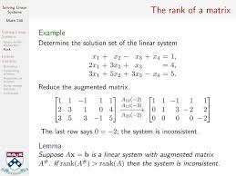 solving linear systems continued and