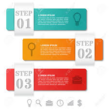 Infographics Templates 3 Options Parts Steps With Icons Infographic