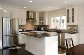 lovely brown shaped kitchen