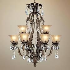 bronze crystal chandelier iron leaf wide bronze and crystal light chandelier within with crystals prepare 7 bronze crystal chandelier