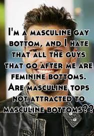 Gay feminine bottom masculine top