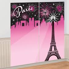 a day in paris party supplies selfie scene setter wall decoration