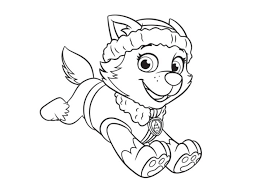 Everest Coloring Page Paw Patrol Colorbook Pages