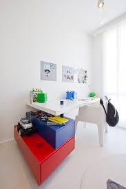 Decorating with primary colors kids modern with toy storage bulletin board  kids desk