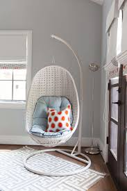 Modern Hanging Chair Bedroom Brilliant White Modern Laminated Iron Hanging Chair For