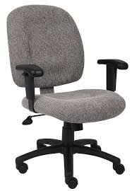 Office Chair With Adjustable Arms Amazoncom Boss Office Products B495 Wn Fabric Task Chair With