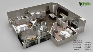 D Floor Plan Visualization Vietnam Floor Plans Pinterest - Studio apartment floor plans 3d