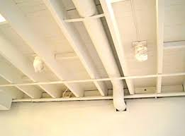 unfinished basement ceiling ideas. White Basement Ceiling Ideas: Best Unfinished Ideas With Great Tiles Flooring O