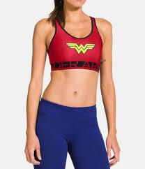 Womens Under Armour Alter Ego Wonder Woman Bra Under
