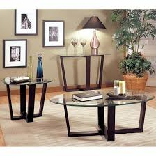 alexis black metal coffee table set
