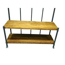 Industrial Style Coat Rack Industrial Storage Bench Industrial Living Hallway Coat Rack And 87
